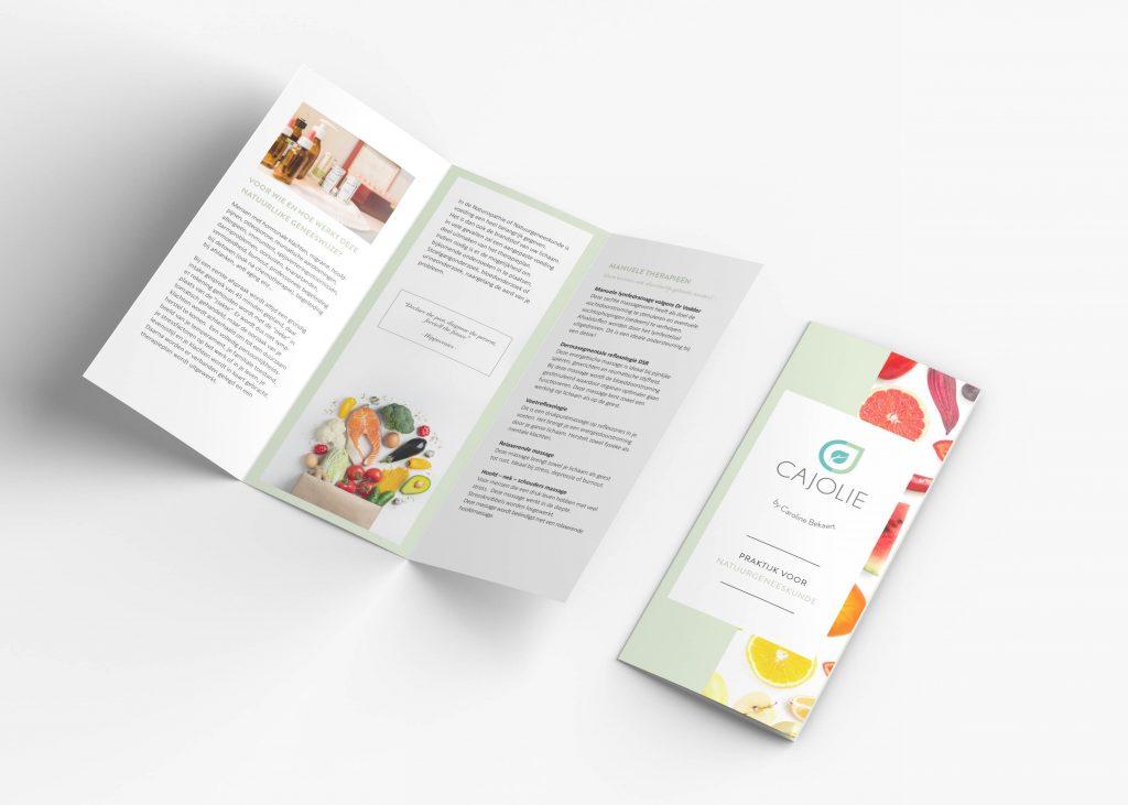 Folder ontwerp Cajolie