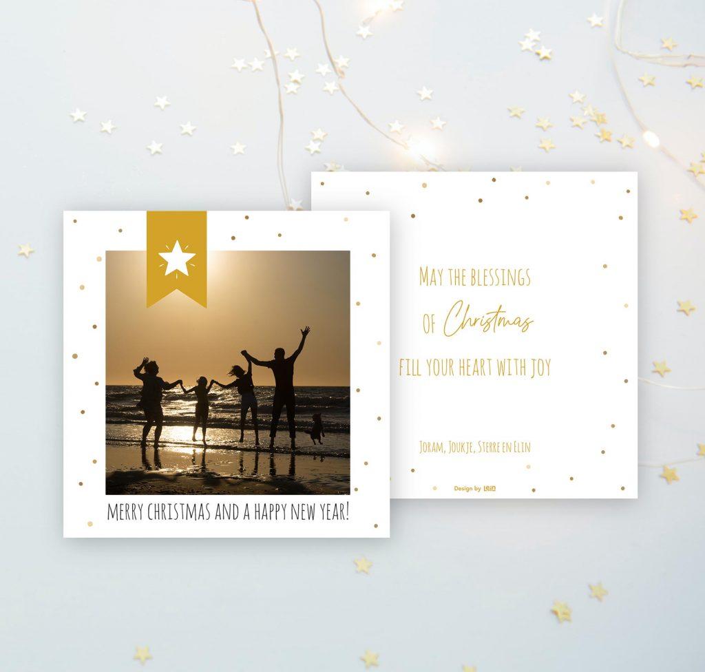 Fotografie en ontwerp kerstkaart